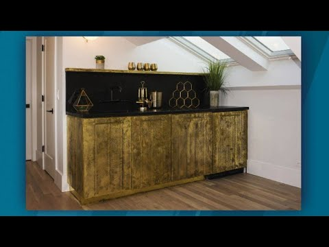 Windy City Rehab's Alison Victoria on How To Use Brass Shim Stock To Make Cabinets Shine
