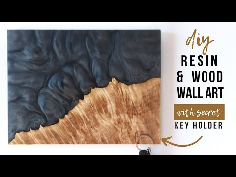 How To Make Epoxy Resin & Wood Art With Secret Key Holder