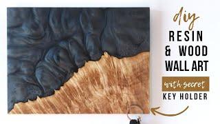How To Make Epoxy Resin & Wood Art With Secret Key Holder