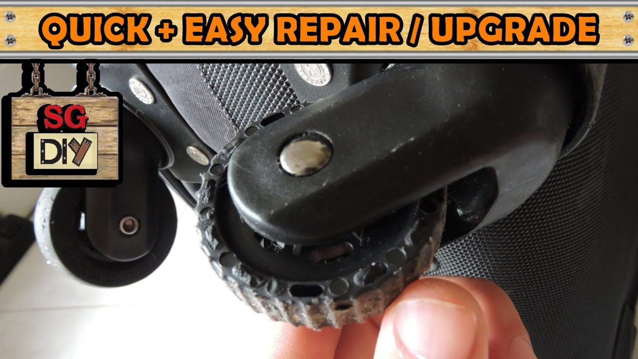 Luggage wheel easy repair replacement upgrade [ step by step guide ]