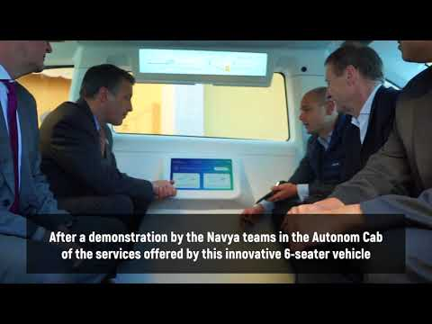 Demonstration of Autonom Cab to Governor Sandoval at the National Governors Association's conference