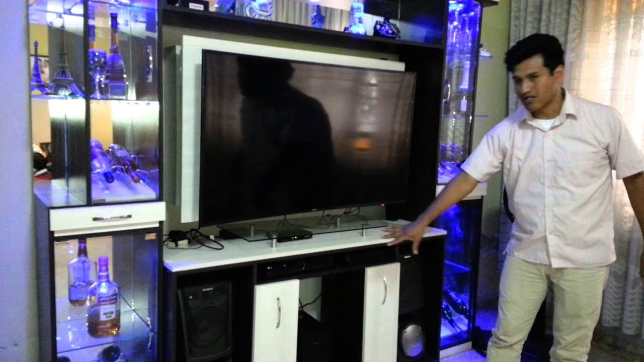 mueble para tv centro de entretenimiento PROYECTO HOGAR - YouTube