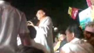 ZAHID ALI KHAN (MP candidate HYDERABAD)..delivering a speech at a public meeting.