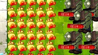 MAX Level Fire Peashooter vs Mega Gargantuars in Plants vs Zombies 0