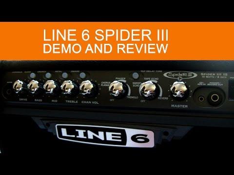 LINE6 Spider III 15watt practice amp demo and review