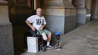 Disabled, Homeless, Denied Disability! Robert lost his leg falling off a roof while volunteering.