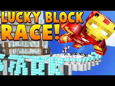 IRON MAN LUCKY BLOCKS | LUCKY BLOCKS MOD | LUCKY BLOCK RACE Mini-Game in Minecraft!
