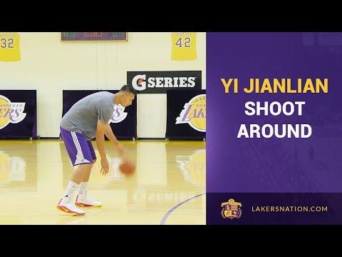 Yi Jianlian Showing Off His Range At Lakers Facility