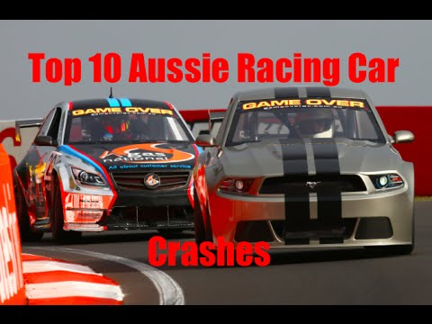 Top 10 Aussie Racing Car Crashes (Updated)