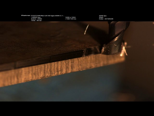 Chip formation in End Milling - Slow Mo