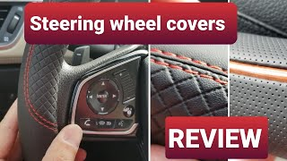 Trying out 3 Steering Wheel Covers on my Honda! Review ($15-$20)