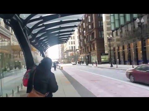 Transporte publico em Chicago USA  onibus e metro