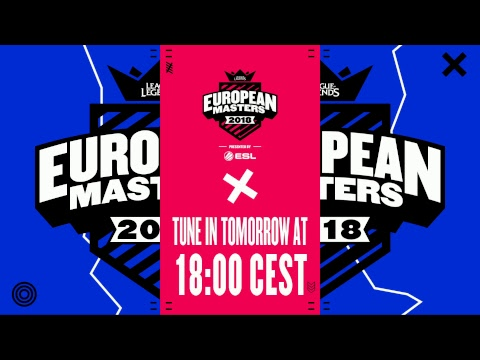 [🔴] European Masters Spring Split Play-ins 2018 - Day 2