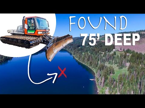 Recovering 15k Pound Snowcat 75' Underwater In High Mtn Lake