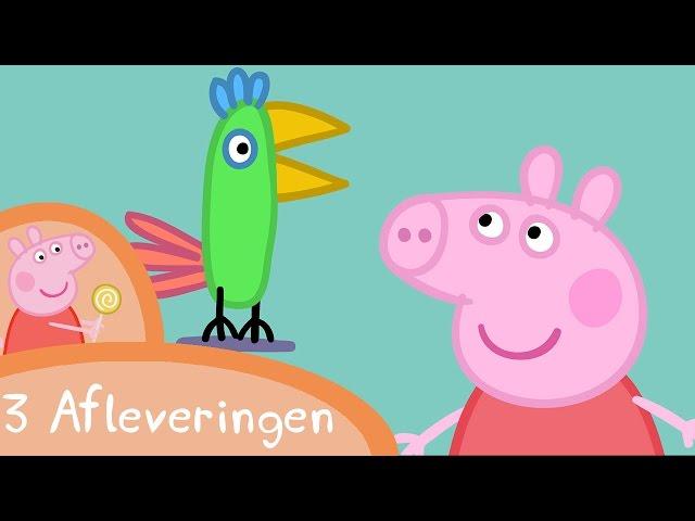 Peppa Pig Nederlands Compilatie Nieuwe Afleveringen | Polly de Papagaai | Tekenfilm | Peppa de Big