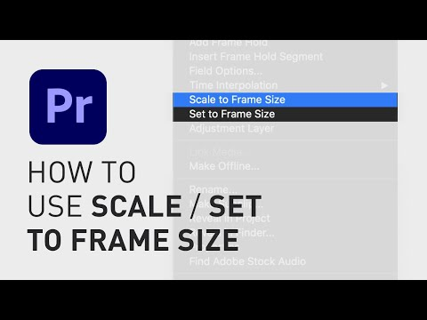 How to use Scale/Set to Frame Size