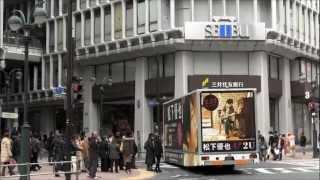 渋谷を走行する、松下優也 2月22日発売2ndアルバム『2U』の宣伝トラック。