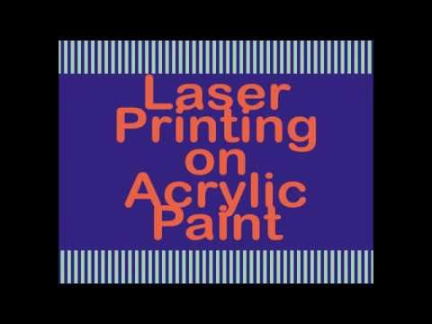 Tutorial How-to New Technique Stunning Art Gelli Plate Laser Printing