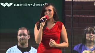 National Anthem Singer Holly Kirsten - Arizona Diamondbacks Vs. Baltimore Orioles 08/13/13