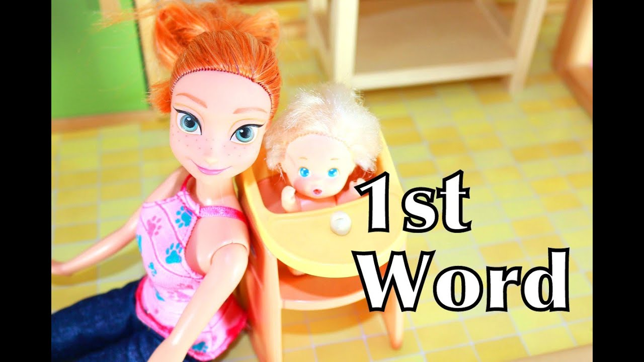 Barbie Baby 1st Word In Little Tikes High Chair Toy - YouTube
