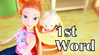 Barbie Baby 1st Word In Little Tikes High Chair Toy