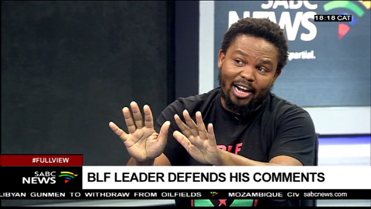 BLF leader, Andile Mngxitama defends his comments
