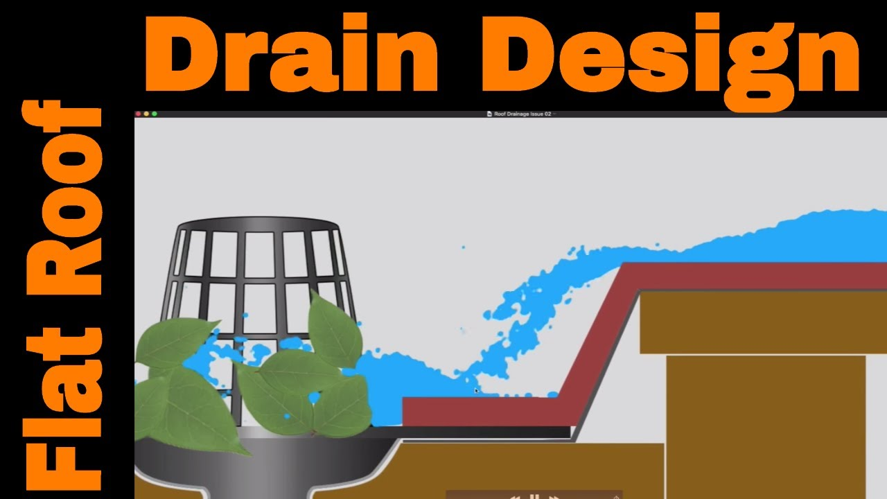 Flat Roof Drains Design And Installation Youtube French Drain Diagram