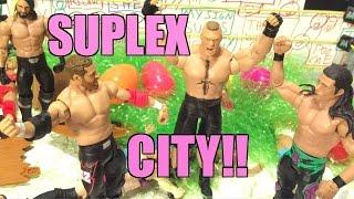 GTS WRESTLING: Suplex City!! WWE Figure Matches Animation PPV Event! Mattel Elites!