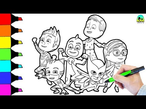 Nickelodeon Pj Masks Coloring Book Pages - YouTube