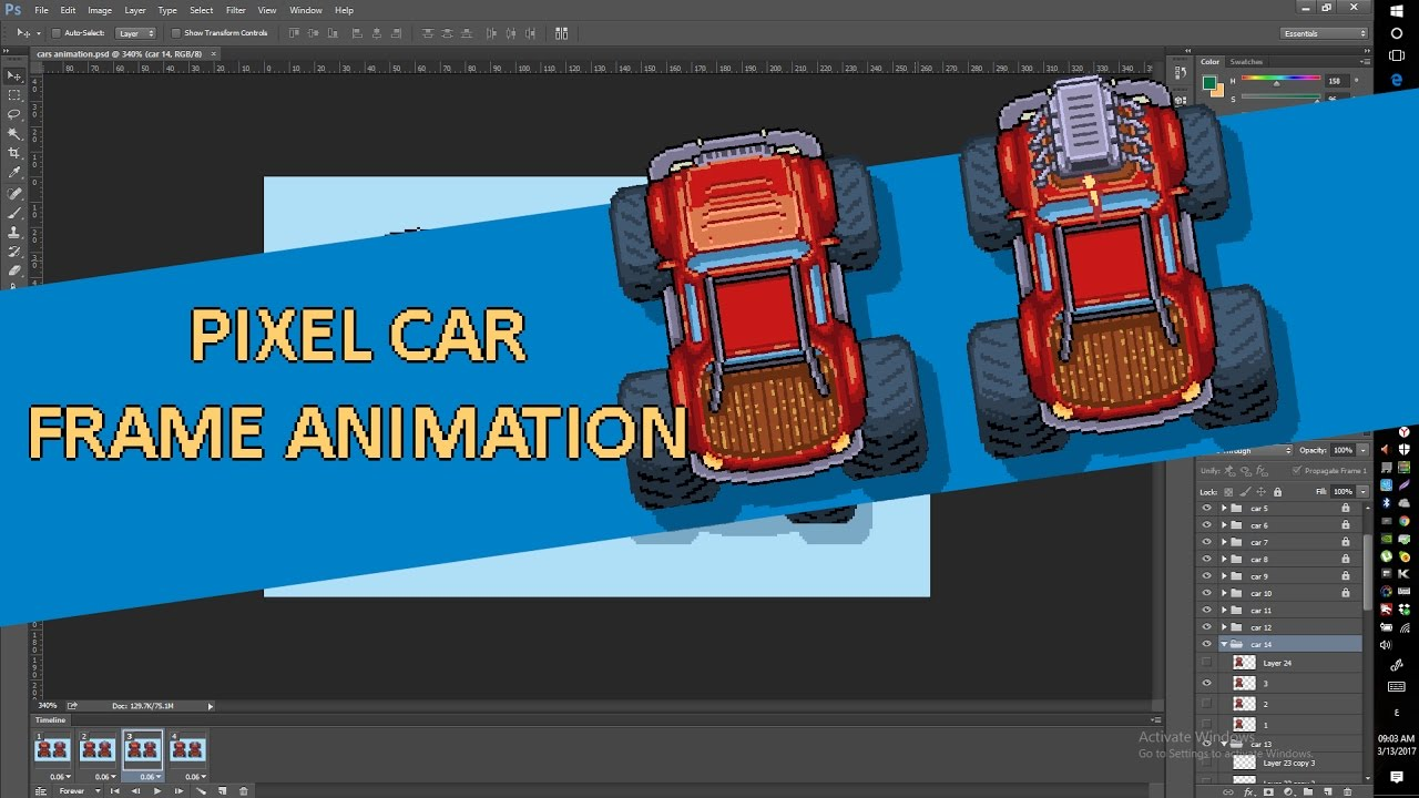 Pixel Art Time Car Design Animations Drift Car Game Youtube