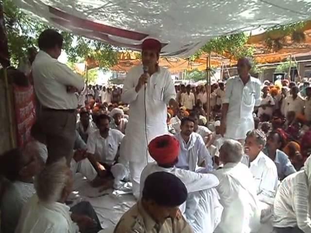 Ajay Singh kilak addressing to farmers
