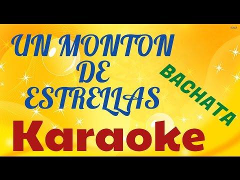 Un Monton De Estrellas Bachata Karaoke version Ivan Venot