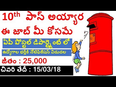 Ap postal department jobs | postman,mailguard | appsc,tspsc |Latest government jobs 2018