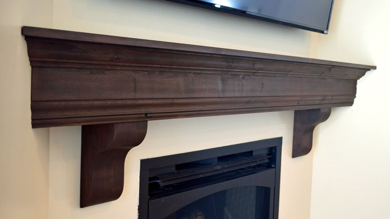Diy fireplace mantel shelf youtube diy fireplace mantel shelf solutioingenieria Image collections