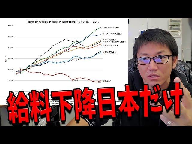 平均年収(給料)が下がってるのは日本だけ。搾取されてるの気づいてます?