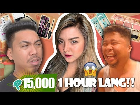 15K INABOT!!! 1 HOUR MAKEUP SHOPPING CHALLENGE!!