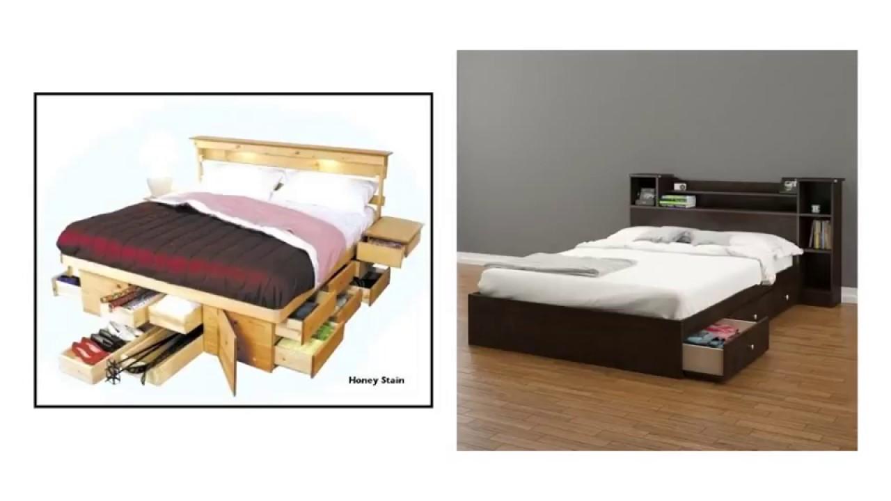 Bed Design Storage Underneath Ideas Platform Youtube