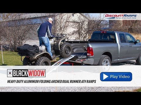 Heavy-Duty Aluminum Folding Arched Dual Runner ATV Ramps