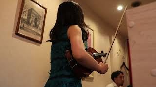 至近距離で聞くバイオリン生演奏、1.朝の挨拶、2.曲名不明、3.リベルタンゴ