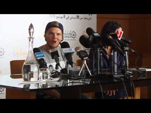 Conférence de presse avec Avicii à Mawazine 2015