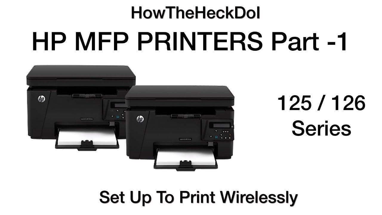 iPhone Printing HP MFP M 125, 126 SERIES HP Laser Print Wireless Setup - 01