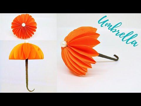 How to make paper Umbrella   DIY paper Umbrella  