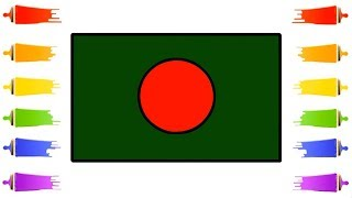 How to draw Bangladesh National Flag for Kids || Bangladeshi flag || Little Channel || BD Flag Draw
