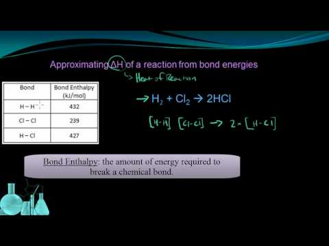 Chemistry 10.4 Energy and Chemical Bonds (Enthalpy)