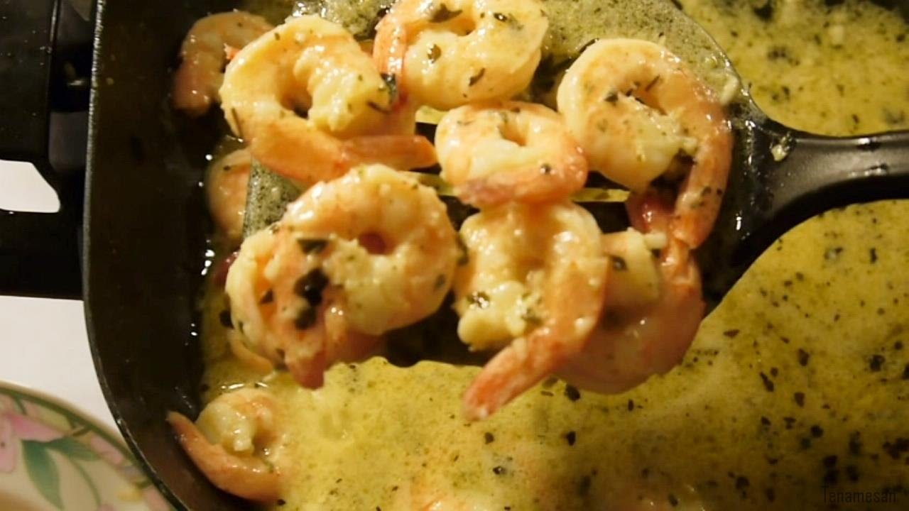 Shrimp Scampi - from frozen to cooked - YouTube