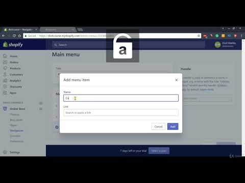 shopify-tutorial-for-beginners---create-navigation-menu