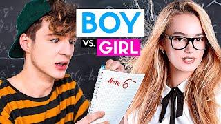 Boy vs. Girl - In der Schule | Die Lochis
