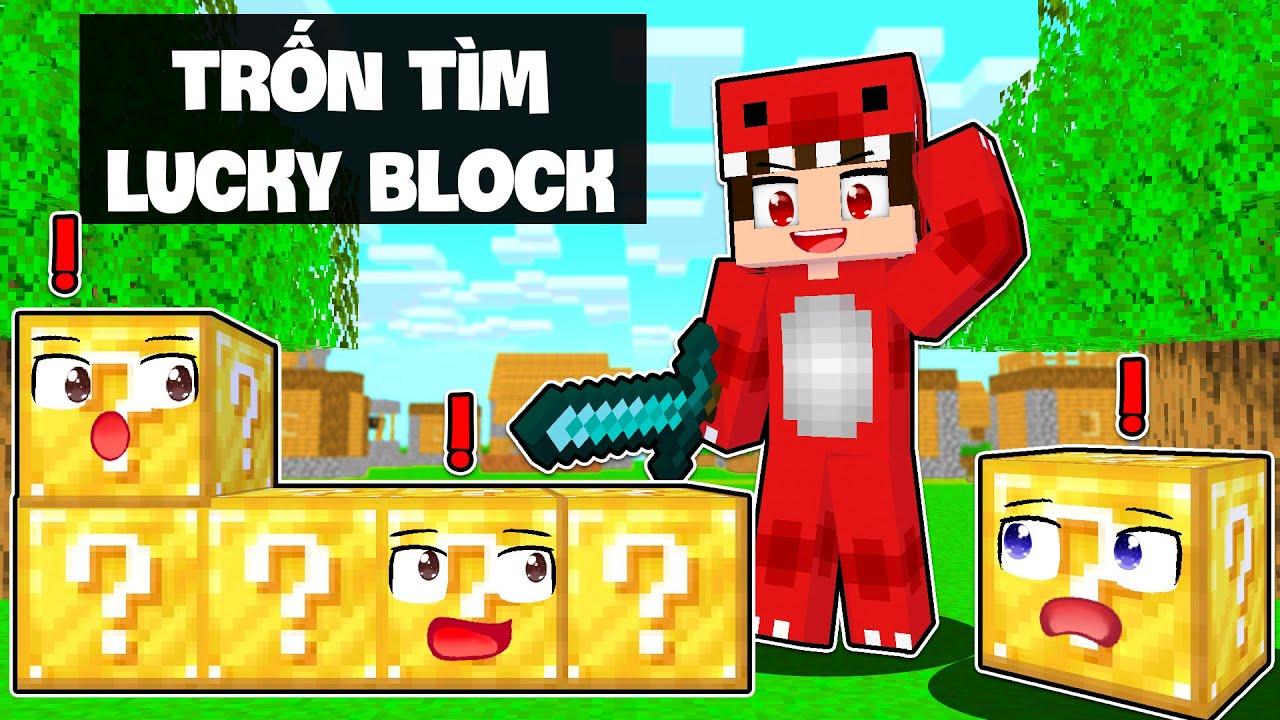 Rex Thử Thách Chơi Trốn Tìm Phiên Bản Lucky Block Cùng Các Thành Viên Của WAO Team !!