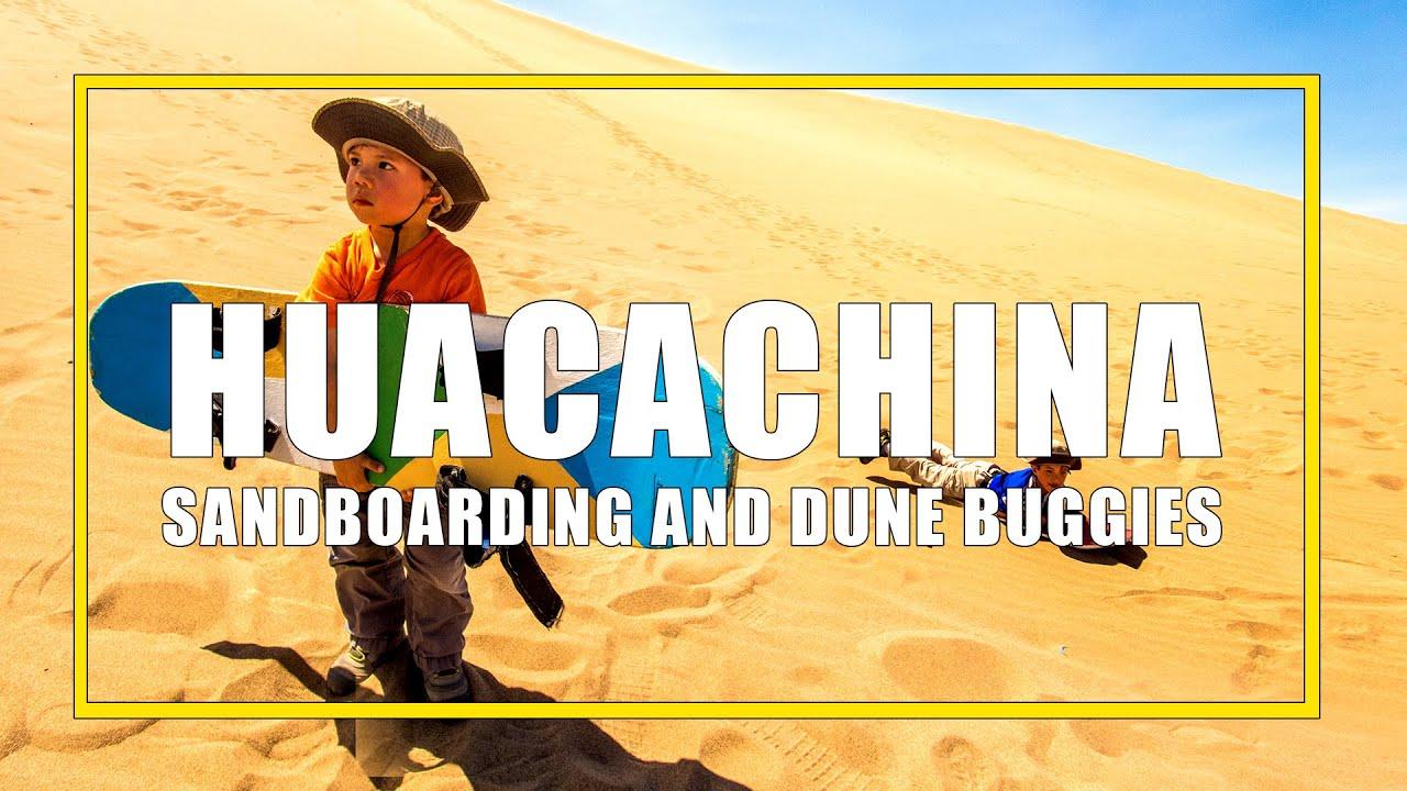 Sandboarding in Huacachina, Peru with kids - YouTube