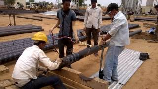 Provision of Wrapping Coating for underground pipe